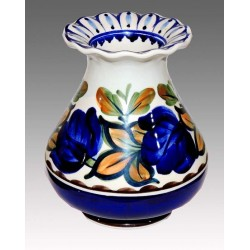 Aluminia faience vase, hand painted with floral motifs.