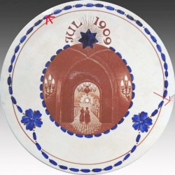 Christmas Plate 1909 - Ø16cm - have refused on the back - see photo 2
