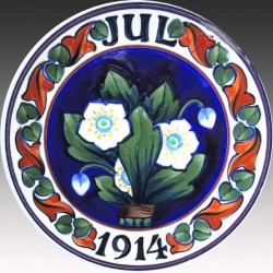 Christmas Plate 1914 - 1026-854 - Ø16cm - neatly repaired the edge - see photo