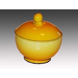 Beautiful round bowl with lid in the series Gertrud - Healthy - H: 11cm D: 11cm